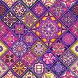 Bezszwowy wzór z dekoracyjnymi mandalas Rocznika mandala elementy Zdjęcie Royalty Free