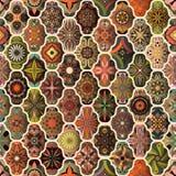 Bezszwowy wzór z dekoracyjnymi mandalas Rocznika mandala elementy kolorowy patchwork Zdjęcie Royalty Free
