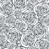 Bezszwowy wzór z dekoracyjnymi różami royalty ilustracja