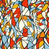 Bezszwowy wzór z doodle ornamentem Fotografia Stock