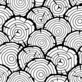 Bezszwowy wzór z drewnianymi fiszorkami Tło dla leśnictwa i tarcica przemysłu Zdjęcia Stock