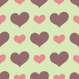 Bezszwowy wzór z dużymi i małymi sercami ilustracji
