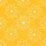 Bezszwowy wzór z etnicznym abstrakcjonistycznym kwiatem Fotografia Stock