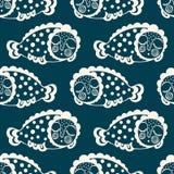 Bezszwowy wzór z fantastyczną dosypianie ryba wektor Obraz Royalty Free