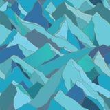 Bezszwowy wzór z górami Obraz Royalty Free
