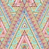 Bezszwowy wzór z geometrycznymi elementami royalty ilustracja