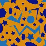 Bezszwowy wzór z geometrycznymi elementami Fotografia Royalty Free
