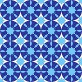 Bezszwowy wzór z geometrycznymi kształtami Kolorowa ilustracja w błękitnych cieniach ilustracji