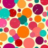 Bezszwowy wzór z grunge kropkami. Obrazy Stock