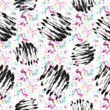 Bezszwowy wzór z grunge teksturami Ręka rysujący moda modnisia tło ilustracji