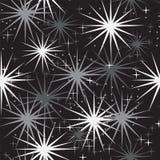 Bezszwowy wzór z gwiazdami na czerni Obraz Royalty Free