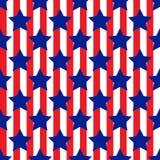 Bezszwowy wzór z gwiazdowymi patriotycznymi usa Fotografia Stock