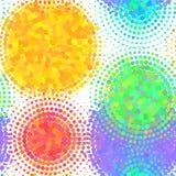 Bezszwowy wzór z halftone kolorowych kropek wektorowym okręgiem kształtuje Abstrakcjonistyczny multicolor mozaika motyw kształtuj Obraz Royalty Free