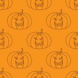 Bezszwowy wzór z Halloween banią ilustracja wektor