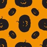 Bezszwowy wzór z Halloween banią royalty ilustracja