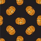 Bezszwowy wzór z Halloween banią ilustracji
