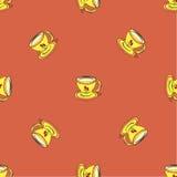 Bezszwowy wzór z herbacianą filiżanką royalty ilustracja