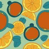 Bezszwowy wzór z herbatą Obraz Royalty Free
