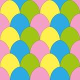 Bezszwowy wzór z jajkami Zdjęcia Royalty Free