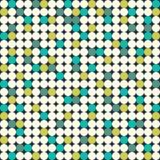 Bezszwowy wzór z jaskrawymi okręgami Zdjęcie Royalty Free
