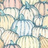 Bezszwowy wzór z jaskrawymi szkicowymi baniami również zwrócić corel ilustracji wektora Obraz Stock