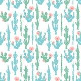 Bezszwowy wzór z kaktusem Zdjęcia Stock