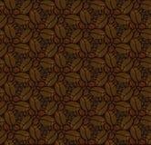 Bezszwowy wzór z kawowymi fasolami Obrazy Royalty Free