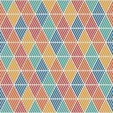 Bezszwowy wzór z klującymi się diamentami Argyle tapeta Rhombuses i lozenges motyw Częstotliwe geometryczne postacie Obrazy Royalty Free
