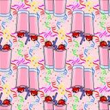 Bezszwowy wzór z koktajli/lów napojami Zdjęcie Stock