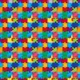 Bezszwowy wzór z kolor łamigłówkami Fotografia Stock