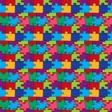Bezszwowy wzór z kolor łamigłówkami Zdjęcie Royalty Free