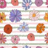 Bezszwowy wzór z kolorową dalią Zdjęcia Royalty Free