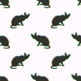 Bezszwowy wzór z kolorowym kotem Fotografia Stock