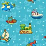 Bezszwowy wzór z kolorowymi children zabawkami royalty ilustracja