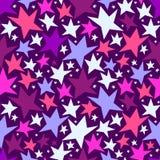 Bezszwowy wzór z kolorowymi gwiazdami Obraz Stock