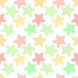 Bezszwowy wzór z kolorowymi gwiazdami Obrazy Royalty Free