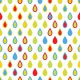 Bezszwowy wzór z kolorowymi kroplami Obrazy Royalty Free