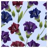 Bezszwowy wzór z kolorowymi kwiatów dzwonami Obrazy Royalty Free
