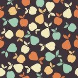 Bezszwowy wzór z kolorowymi owoc Obraz Stock