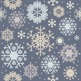 Bezszwowy wzór z kolorowymi płatkami śniegu Obrazy Stock
