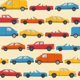 Bezszwowy wzór z kolorowymi samochodami Fotografia Stock
