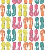 Bezszwowy wzór z kolorowymi trzepnięcie klapami Fotografia Royalty Free