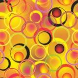 Bezszwowy wzór z kolorowymi zygzakowatymi pierścionkami na pobrudzonym lekkim tle Obraz Stock