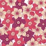Bezszwowy wzór z koloru kwiatem romantycznym obrazy stock
