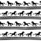 Bezszwowy wzór z koniami Fotografia Stock