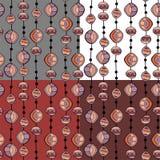 Bezszwowy wzór z koralikami Zdjęcia Stock