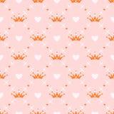 Bezszwowy wzór z koroną Zdjęcia Royalty Free