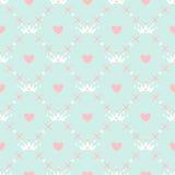 Bezszwowy wzór z koroną Zdjęcie Royalty Free