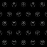 Bezszwowy wzór z koszykówką Zdjęcia Royalty Free