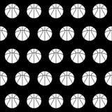 Bezszwowy wzór z koszykówką Obraz Royalty Free